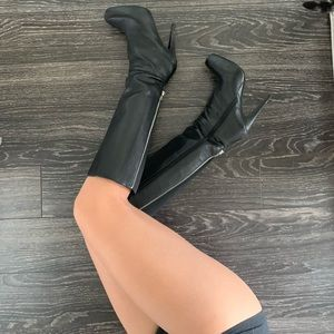 ALDO/ platform knee high heeled black boots